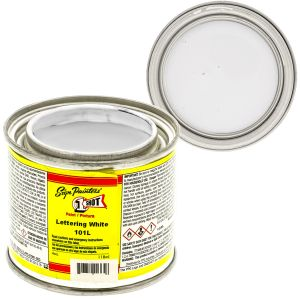 1-Shot Enamel, Lettering White, 4OZ