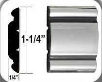 "1 1/4"" Body Side Molding, Chrome/Black, 26'"
