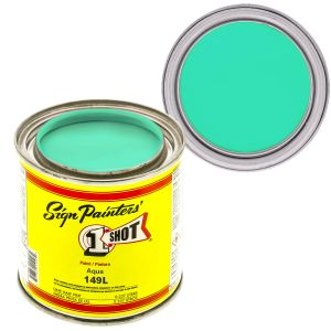 1-Shot Enamel, Aqua, 4OZ