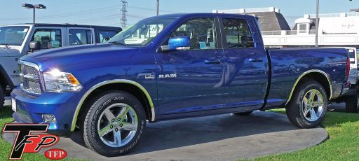 Dodge Ram 1500, 2009 to 2018, Fender Trim, Long