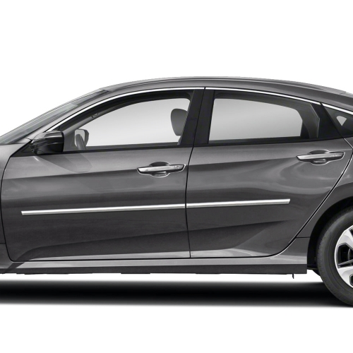 HONDA CIVIC 4 DOOR CHROME BODY MOLDING 2012 - 2019
