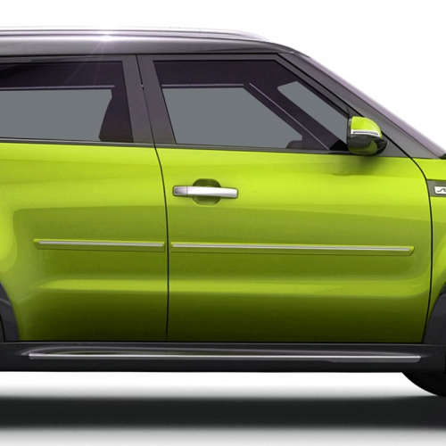 KIA SOUL CHROMELINE PAINTED BODY SIDE MOLDING 2014 - 2020