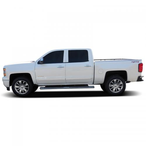 CHEVY SILVERADO CREW CAB CHROMELINE MOLDING 2014-2018 - Click Image to Close