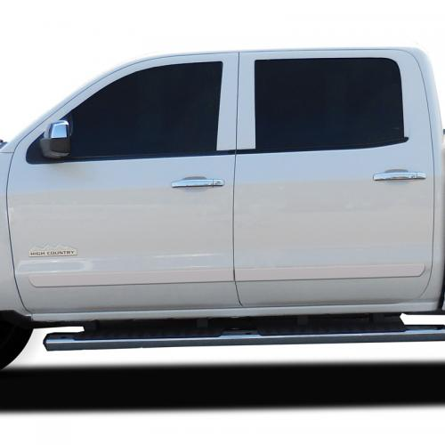 CHEVY SILVERADO CREW CAB PAINTED BODY SIDE MOLDING 2014 - 2018